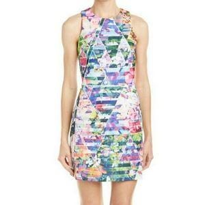 Amanda Uprichard Multicolor Scuba Dress